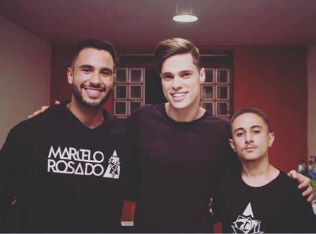 Marcelo Rosado, DirtyLoud e Matheus Filipe Marketing da Rose Produções